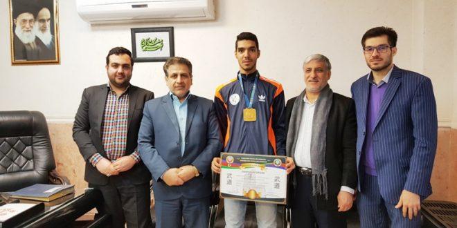 کسب مدال طلای مسابقات قهرمانی جهان ورزش های رزمی 2016 باکو توسط دانشجوی دانشگاه علمی کاربردی شهرداری ورامین
